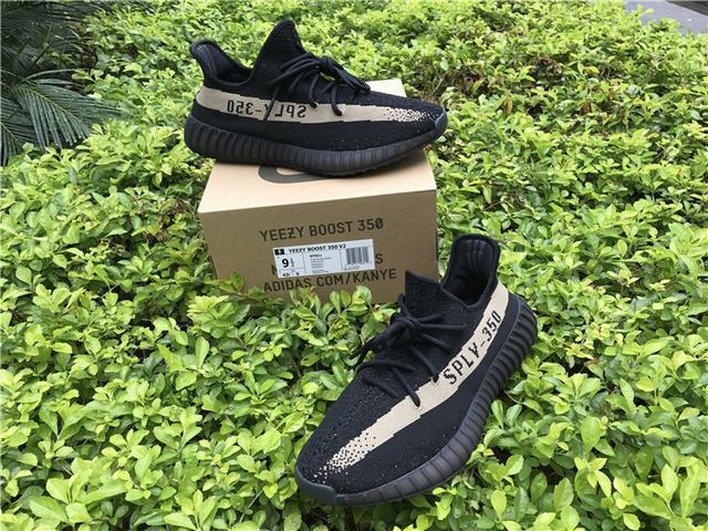 4f1af914f Home Men Authentic Adidas Yeezy Boost Authentic Adidas Yeezy 350 V2 Boost  Core Black Green
