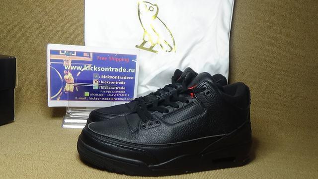 ebbee33e8028b6 Authentic Air Jordan 3 OVO Black on sale
