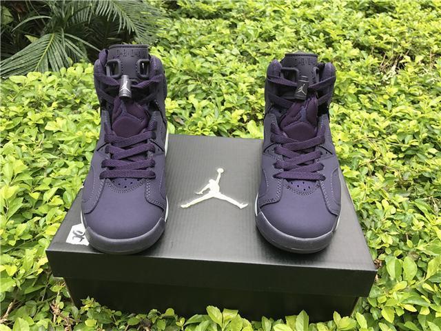 4bf5d2b96e39a4 Authentic Air Jordan 6 GS Dark Purple Suede on sale