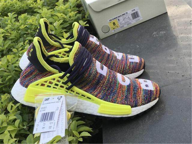 "f8aa39ceaa83e Authentic Adidas Human Race NMD x Pharrell Williams ""Multicolor"" on ..."