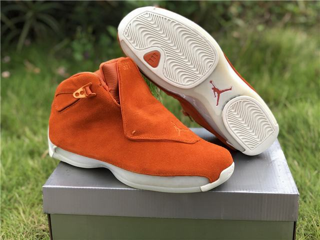 "Authentic Air Jordan 18 ""Orange Suede"" on sale 5406827fd"
