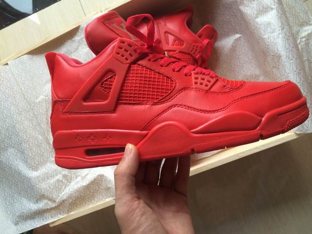 """huge selection of b28fa a8431 Authentic Air Jordan 4 """"Red Louis Vuitton Don"""" on sale,for ..."""