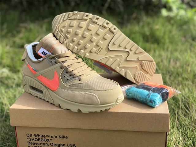 """Glorioso Loco Paseo  Authentic OFF-WHITE x Nike Air Max 90 """"Desert Ore"""" on sale,for  Cheap,wholesale"""