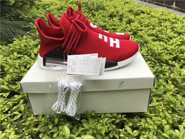 64b938216ad Authentic Adidas Human Race NMD x Pharrell Williams Red on sale