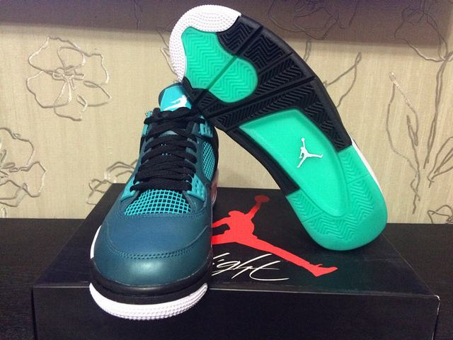 ... Authentic Air Jordan 4 Teal 2015