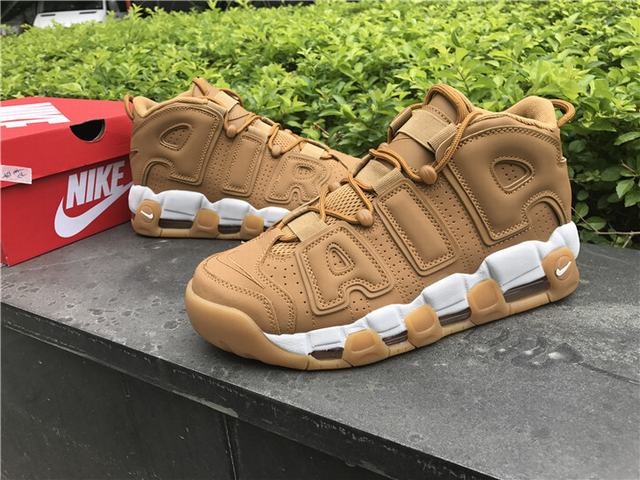 "huge selection of 7e986 aa520 Authentic Nike Air More Uptempo Premium ""Flax"""