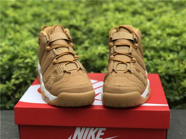 "new concept da953 09bf2 Home Men Authentic Nike Shoes Authentic Nike Air More Uptempo Premium ""Flax"""